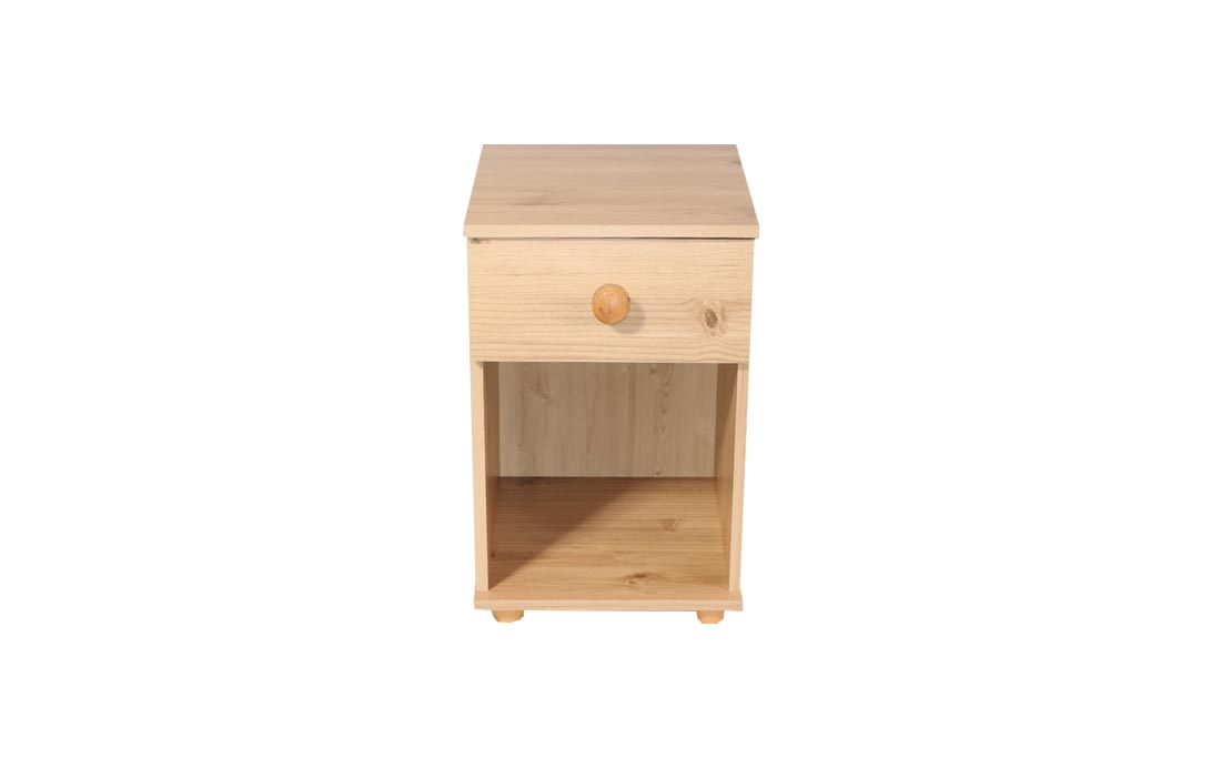 Cambridge One Drawer Bedside Cabinet Pine | Bailiwick Home